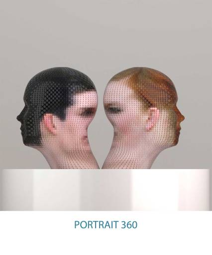 Portrait 360 art installation by Gianluca Traina